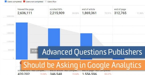 Advanced Questions Publishers Should be Asking in Google Analytics