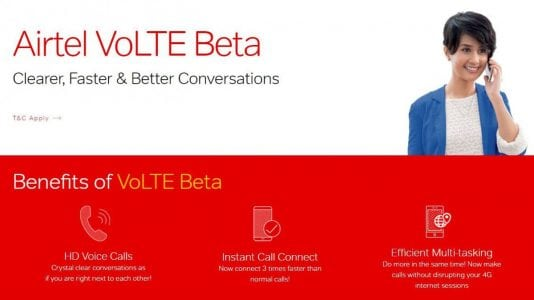 Airtel VoLTE beta program now live in Delhi, Rajasthan