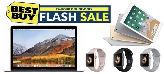 Best Buy Flash Sale: Save Up to $500 on MacBook, $100 on 2017 iPad, and $40 on Apple Watch S3