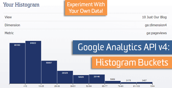 Google Analytics API v4: Histogram Buckets