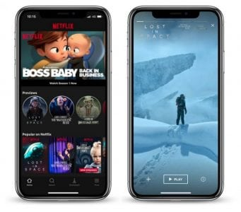 Netflix Adds 30-Second Preview Videos to iOS App