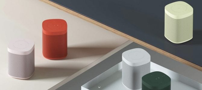 Sonos Announces New Colors for Sonos One Speaker Coming This September