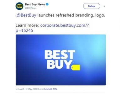 After nearly 30 years, Best Buy unveils new logo