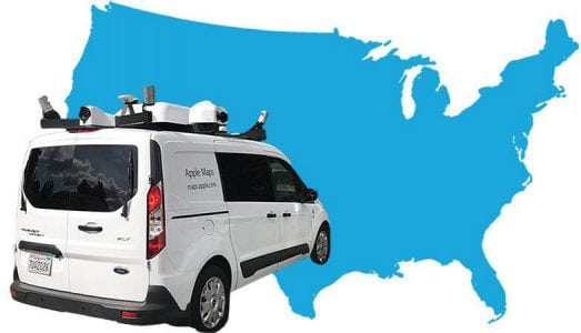 Apple Maps Vehicles Have Now Collected Street View Data in Over 40 States and 10 Countries