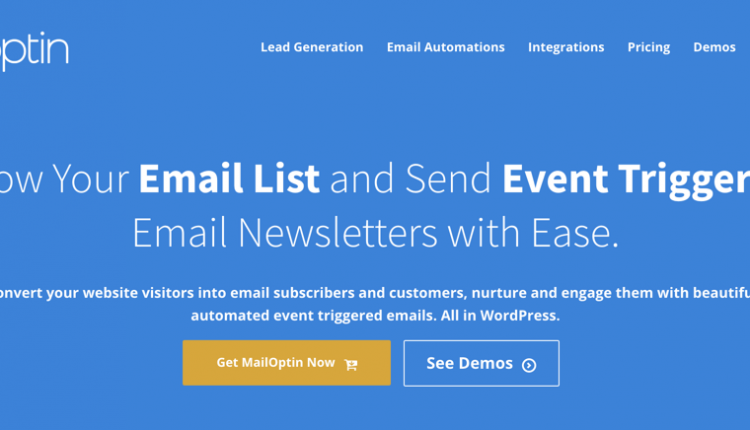 Grow, Nurture and Engage Your Email List & Customers with MailOptin