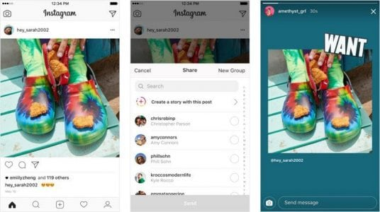 Instagram Now Letting Users Share Feed Posts to Stories