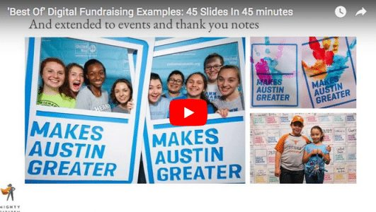 [VIDEO] 45 Digital Fundraising Examples in 45 Minutes