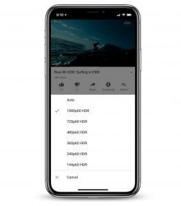 YouTube Introduces HDR Video Support on iPhone X