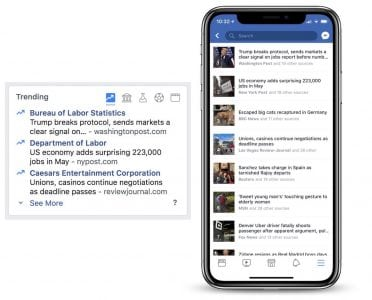 Facebook Removing 'Trending' News Section Because People Found it 'Less and Less Useful'