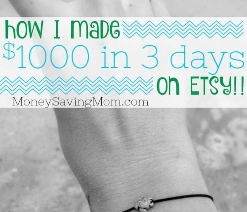 How I Made $1,000 in 3 Days on Etsy!