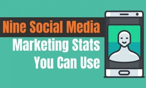 Nine Useful Social Media Marketing Stats: An Interactive Infographic Made with Venngage and ThingLink
