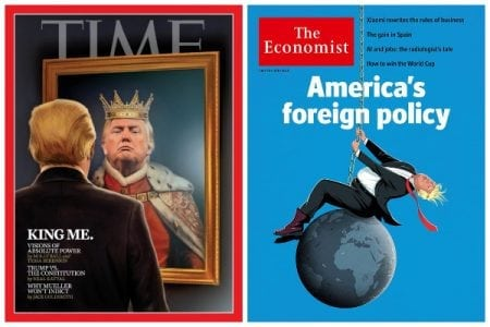Trump Makes Unpresidented Double Covers On TIME And The Economist Magazines