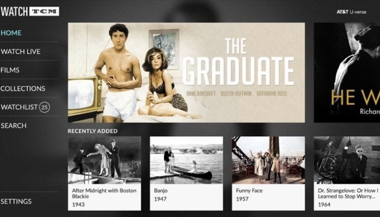 Turner Classic Movies Launches 'Watch TCM' tvOS App With Thousands of Classic Films on Demand