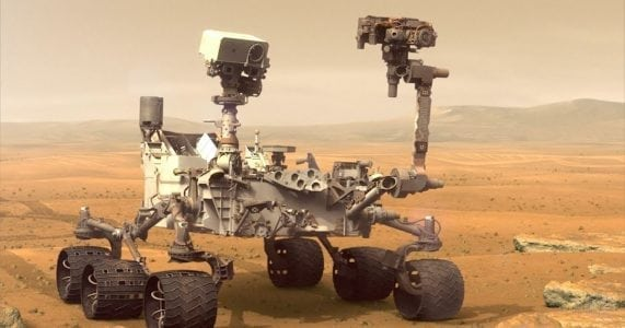 Video Friday: Curiosity Rover, Giant Crab Robot, and Drone Umbrella