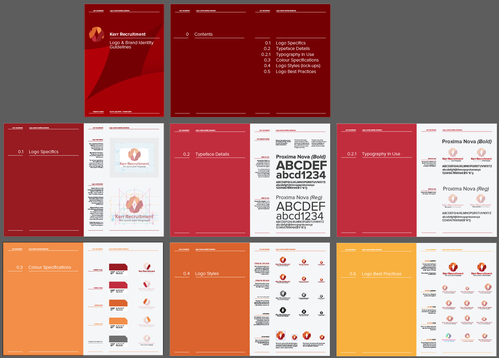 14-16 Page Logo & Brand Identity Guidelines Template for Download