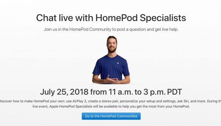Apple specialists to hold live HomePod question and answer session next week – Info Mac