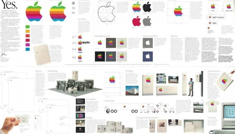 Rediscovering the Apple Corporate Identity Guidelines Notebook by Arun Venkatesan – Info Graphic Design