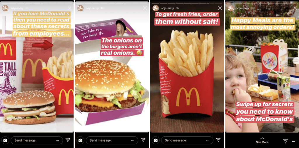 McDonald's teaser posts