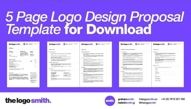 Logo Design Proposal 5 Page InDesign Template for Download – Info Graphic Design