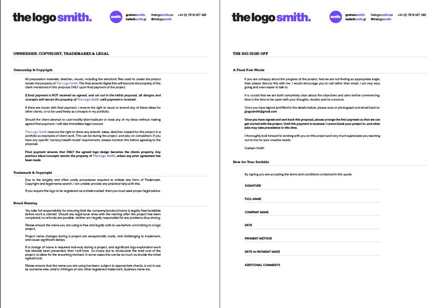 logo design proposal 5 page template for download