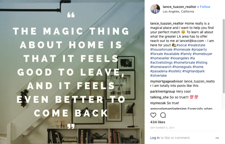 Instagram Realtor Inspirational quote
