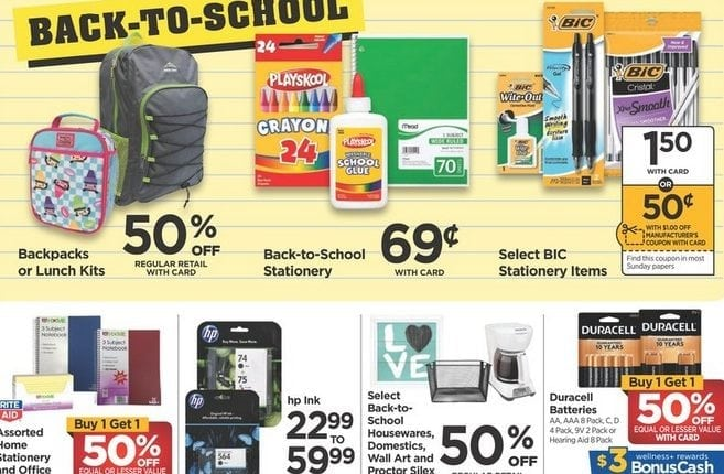 Rite Aid: Back to School Deals for the week of July 22, 2018 – Info Money Manage