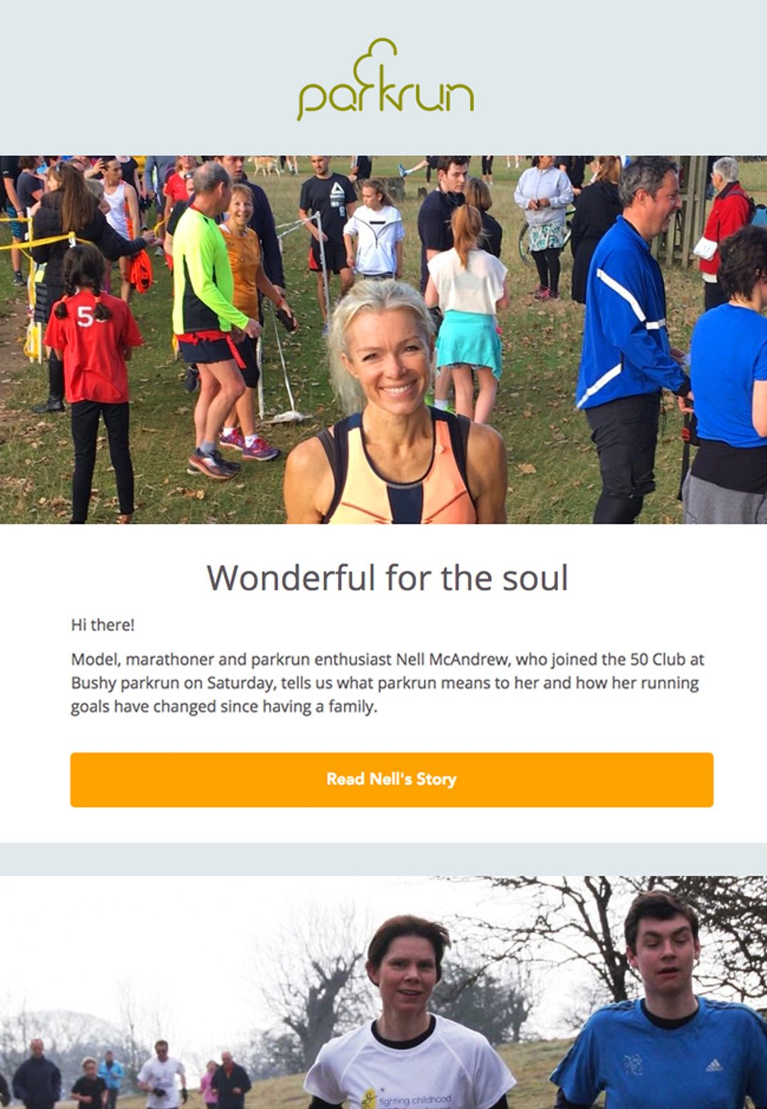 Parkrun – Compelling Email Newsletter Copy