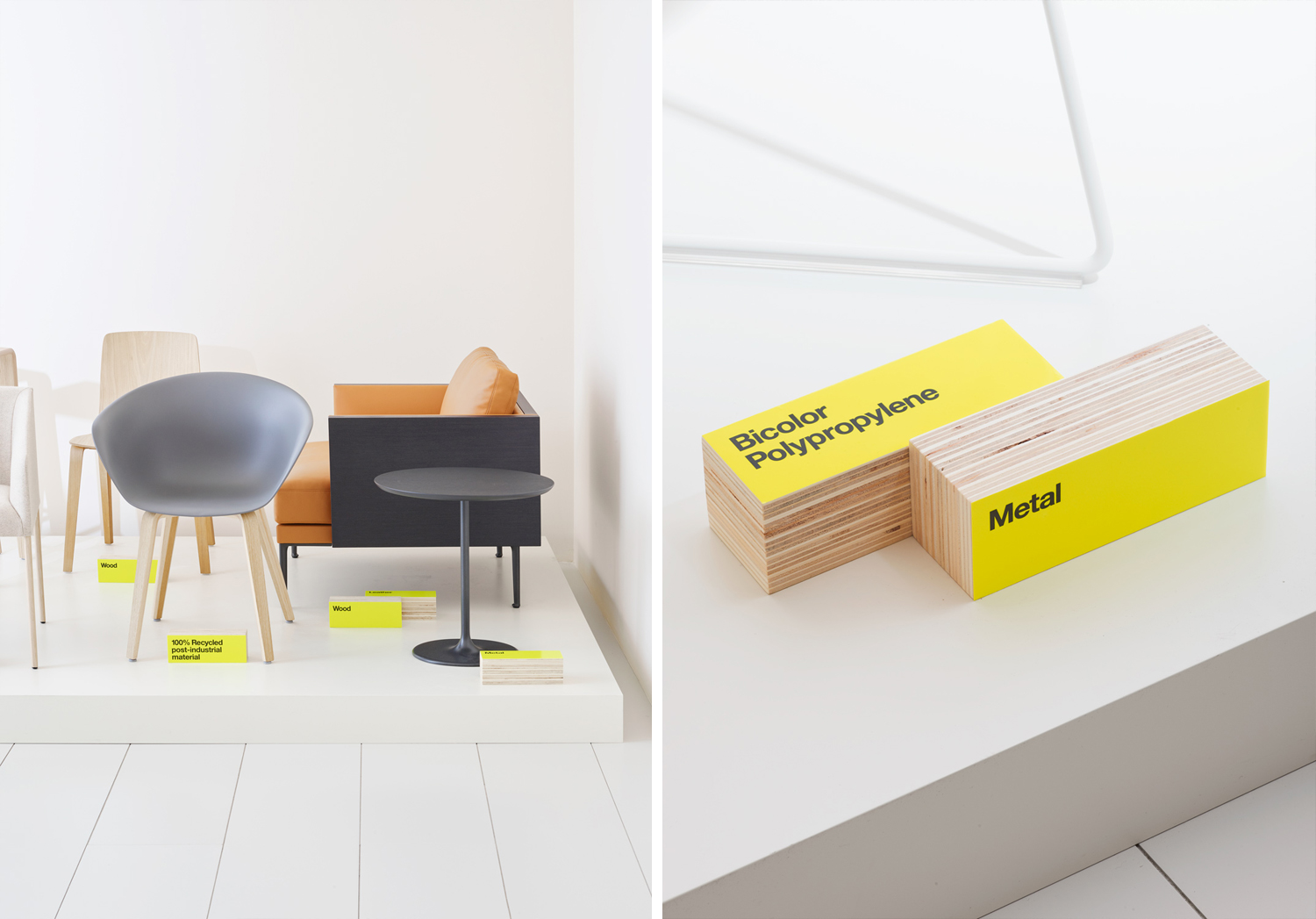 Graphic identity and signage by Clase bcn for Italian furniture company Arper