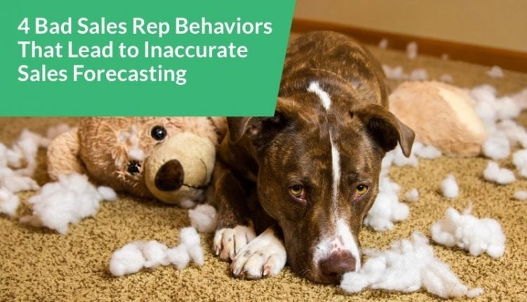 4 Bad Rep Behaviors That Lead to Inaccurate Sales Forecasting – Info Sales
