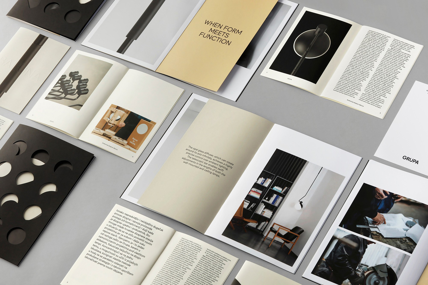 Print and packaging designed by Bunch for furniture design and manufacturer Grupa's new light Baluna