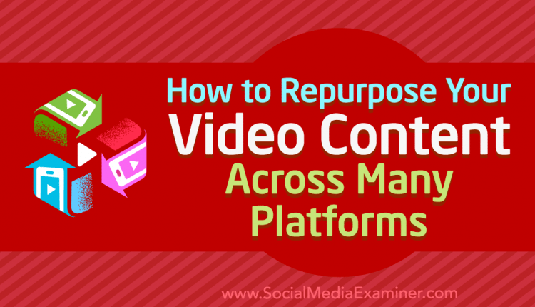 How to Repurpose Your Video Content Across Many Platforms – Info Marketing