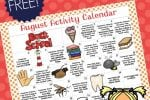 Free Printable August Preschool Activity Calendar – Info Money Manage