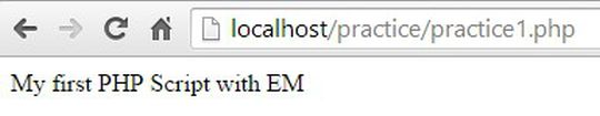 PHP Script with EM