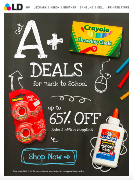 Another example of great back-to-school email marketing.