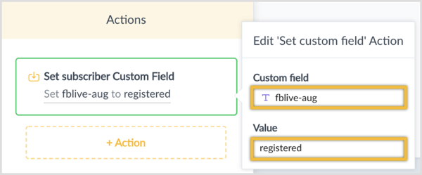 Create a new custom field and set the value.