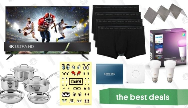 Tuesday's Best Deals: 65″ 4K TV, Philips Hue Accessories, David Archy Underwear, and More – Info Computing