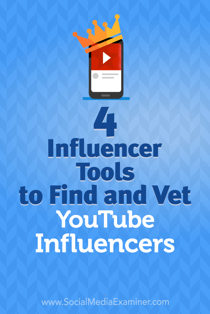 Discover four tools to help you find and connect with YouTube influencers for marketing campaigns.
