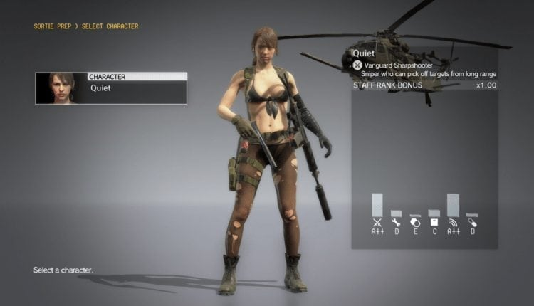 Konami Updates Metal Gear Solid V: TPP, Makes Quiet Playable On FOBs – Info Computing