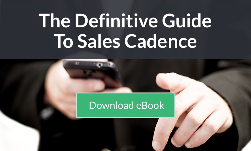 free ebook - the definitive guide to sales cadence