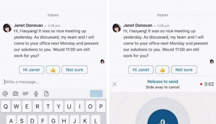LinkedIn Adds Voice Messaging Feature to its Mobile App – Info Mac