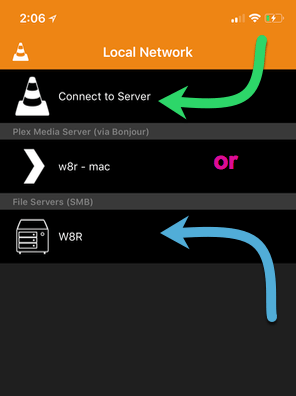 vlc-stream-video-to-ios-vlc-app-ios-server-selection-screen