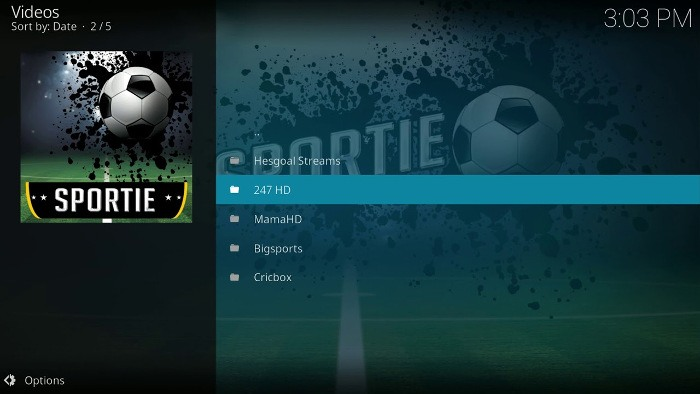 best-kodi-add-ons-sports-sportie