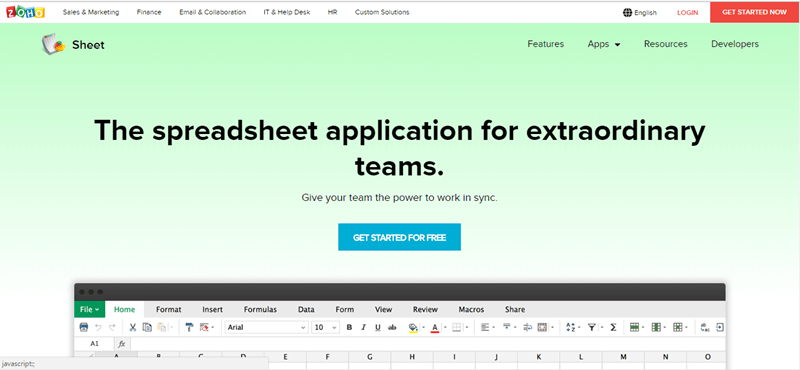best-excel-alternative-zoho-sheets