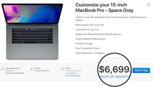 Apple Unveils Refreshed MacBook Pros, Propels Highest Tier To US$6,700