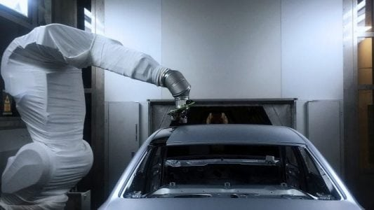 Audi started testing an overspray-free method, which saves energy, time and resources | Robotics