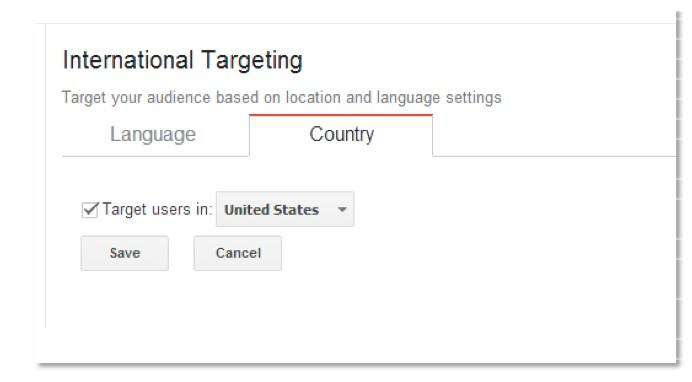 international targeting by country