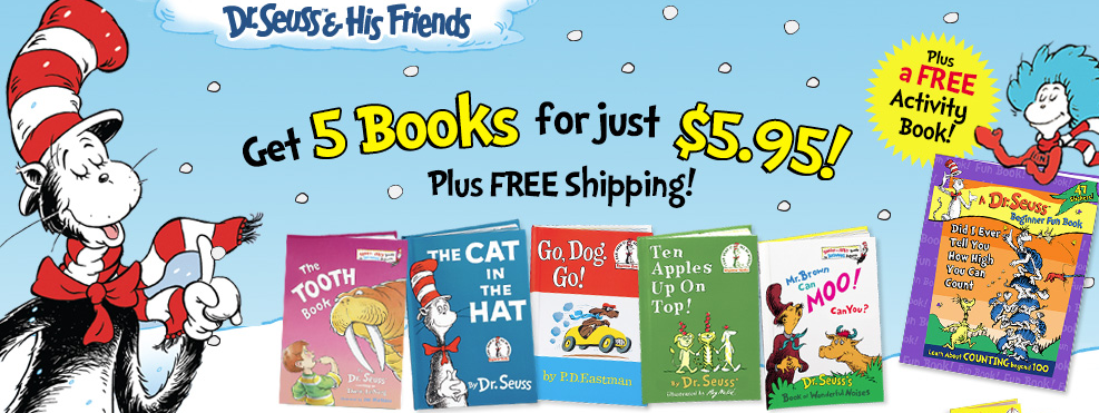 Get five Dr. Seuss books for just $1.19 each, shipped!