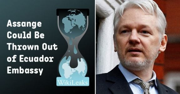Ecuador to Withdraw Asylum for Wikileaks Founder Julian Assange – Info CCrime