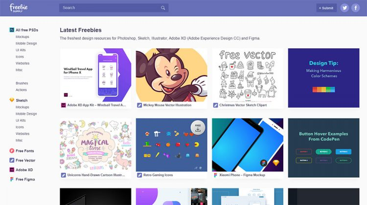 Get Fresh Design Resources for Photoshop, Sketch and More on