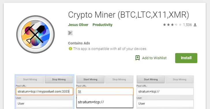Google Bans Cryptocurrency Mining Android Apps From the Play Store – Info CCrime